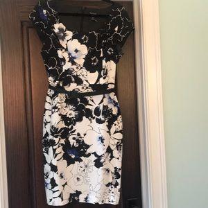 WHBM floral sheath dresss